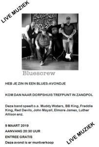 Bluescrew live muziek! @ Dorpshuis Trefpunt Zandpol