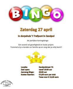 Koningsbingo @ Dorpshuis Trefpunt Zandpol